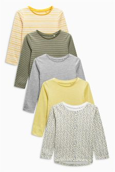 Long Sleeve Tops Five Pack (3mths-6yrs)