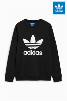 adidas Originals Black Trefoil Jumper