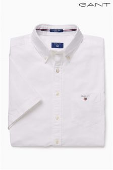 Gant White Short Sleeve Oxford Shirt