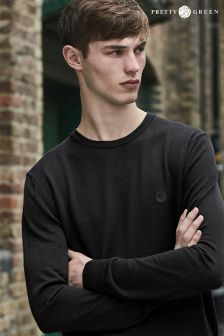 Pretty Green Black Mosley Crew Neck Knit