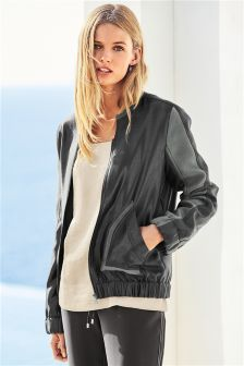 Matte And Shine Bomber Jacket