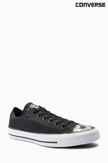 Converse Black Brush Off Toe Cap Chuck Taylor All Star