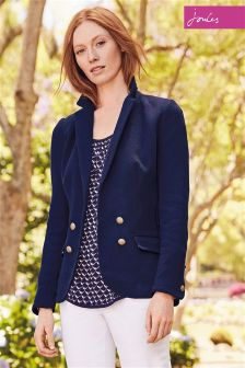 Joules Anika French Navy Double Breasted Blazer