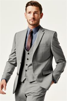 Buy Men's suits Grey Wool Blend Slim Fit from the Next UK online shop
