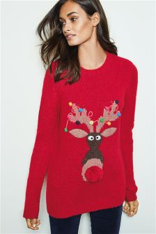 Novelty Rudolph Christmas Jumper