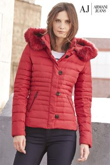 Armani Jeans Red Padded Jacket