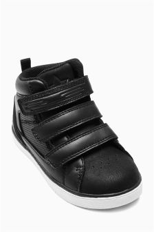 Triple Strap High Top Trainers (Younger Boys)
