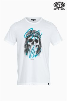 Animal Rocco White Graphic Tee