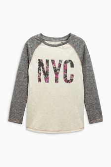 NYC Long Sleeve Raglan Top (3-16yrs)