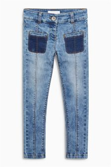 Patch Pocket Skinny Jeans (3-16yrs)