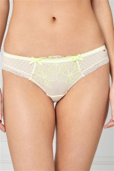 Floral Embroidered Brazilian Briefs
