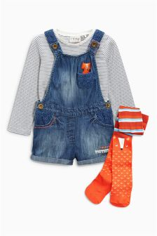 Fox Character Dungaree Set (3mths-6yrs)