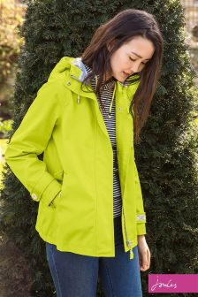 Joules Coast Bright Lime Waterproof Hooded Jacket