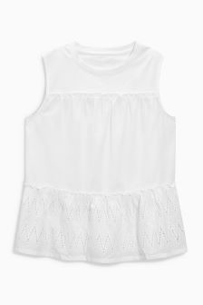 Tiered Broderie Shell Top