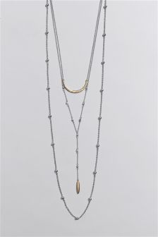 Three Row Y-Drop Necklace