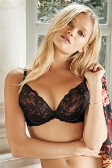 Cara Lace Push Up Plunge Bra