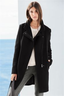 Womens Black Coats | Long Black Coats For Winter | Next UK