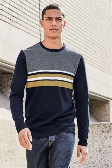 Long Sleeve Chest Stripe T-Shirt