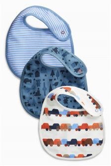 Digger Print Regular Bibs Three Pack