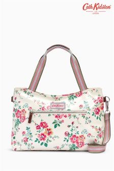 Cath Kidston White Thorp Flowers Handbag With Detachable Strap