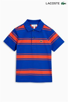 Lacoste® Blue/Red Stripe Polo