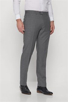 Signature Crepe Stripe Tailored Fit Suit: Trousers