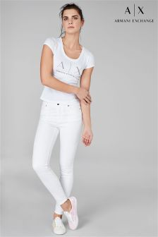 Armani Exchange White Core Skinny Jean