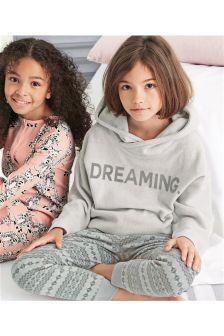 Dreaming Fleece Top With Fairisle Pattern Bottom Pyjamas (3-16yrs)