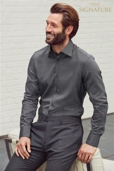 Signature Pindot Slim Fit Shirt