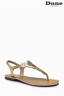 Dune Lill Laser Cut Toe Thong Sandal