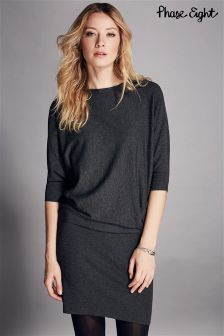 Phase Eight Grey Becca Batwing Dress