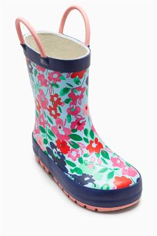 Floral Print Wellies (Younger Girls)