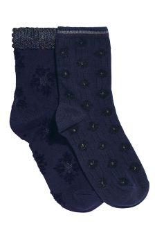 Embellished Ankle Socks Two Pack