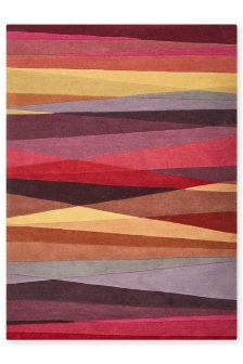 Wool Abstract Multi Stripe Rug