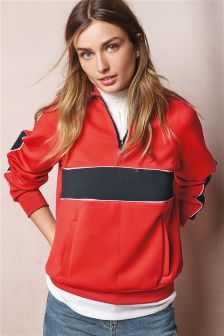 Panelled Sporty Overhead Sweater