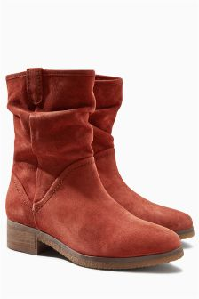 Suede Slouch Boots