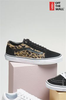 Vans Black Leopard Print Old Skool