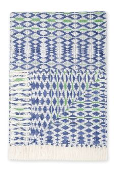 Geo Jacquard Cotton Throw