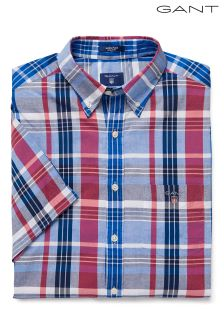 Gant Multicoloured Short Sleeve Madras Check Shirt