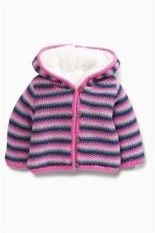 Stripe Hooded Cardigan (0mths-2yrs)