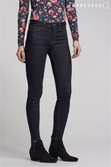 Warehouse Dark Wash Skinny Cut Jean