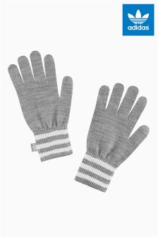 adidas Originals Grey Stripe Gloves