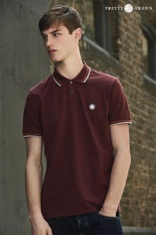 Pretty Green Burgundy Tipped Polo