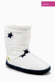 Joules Homestead Cream Star Super Soft Slipper Boot