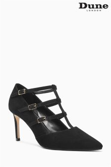 Dune Black Strappy Court Shoe