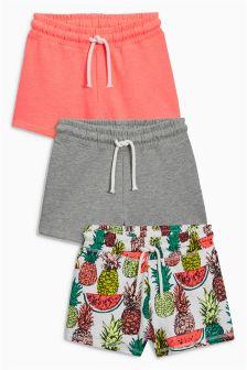 Pineapple Shorts Three Pack (3-16yrs)