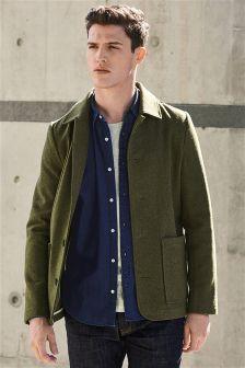 Wool Blend Worker Jacket