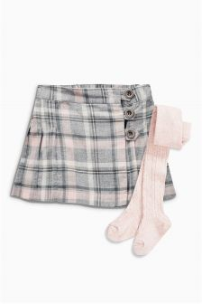 Check Kilt And Tights Set (3mths-6yrs)