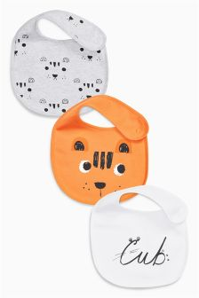 Tiger Cub Bibs Three Pack