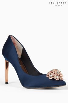 Ted Baker Satin Peetch Jewel Detail Pointed Court